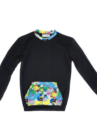 Bluza barbati Gosse Black Cartoon