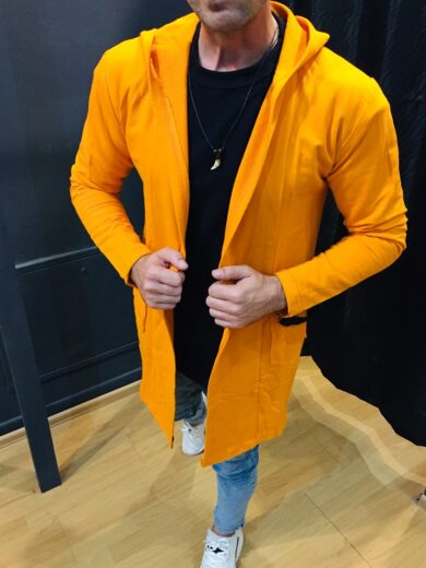 cardigan barbati orange