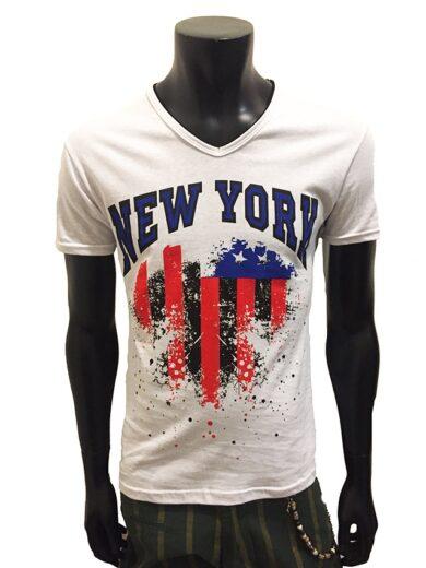 Tricou Barbati Alb New York