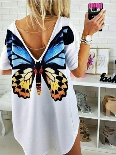 Tricou dama White Butterfly