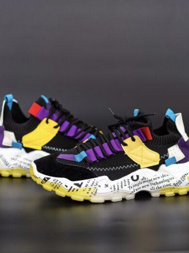 Adidasi Barbati Black Rainbow