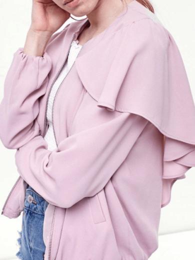 Jacheta Dama Pink Ruffles